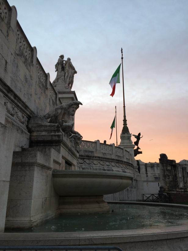 Fontaine gelée de la Piazza Venezia
