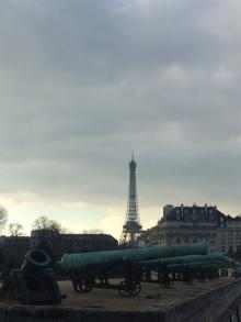 La tour Eiffel vue des Invalides