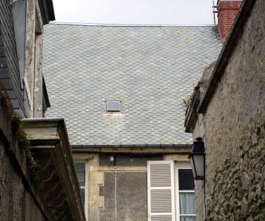 Vue sur les toits gris