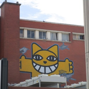 Monsieur Chat à Euralille (grand centre commercial)