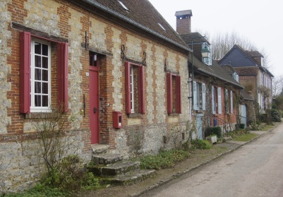 Les belles façades de Gerberoy