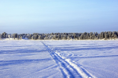Vue sur le lac gelé - Enontekio