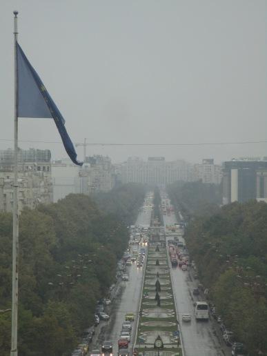 Vue sur les Champs-Elysées de Bucarest